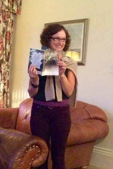 Jackie reading from Glass Houses at the Retreats West writing retreat July 2016 in Filey, UK